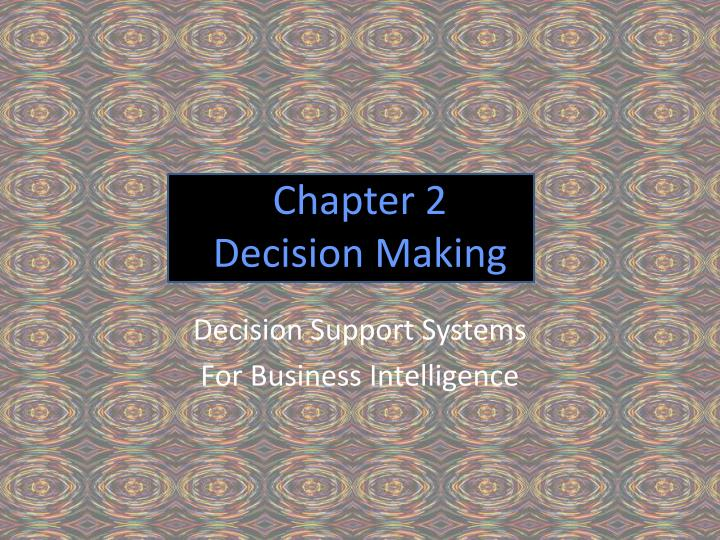 chapter 2 decision making n.
