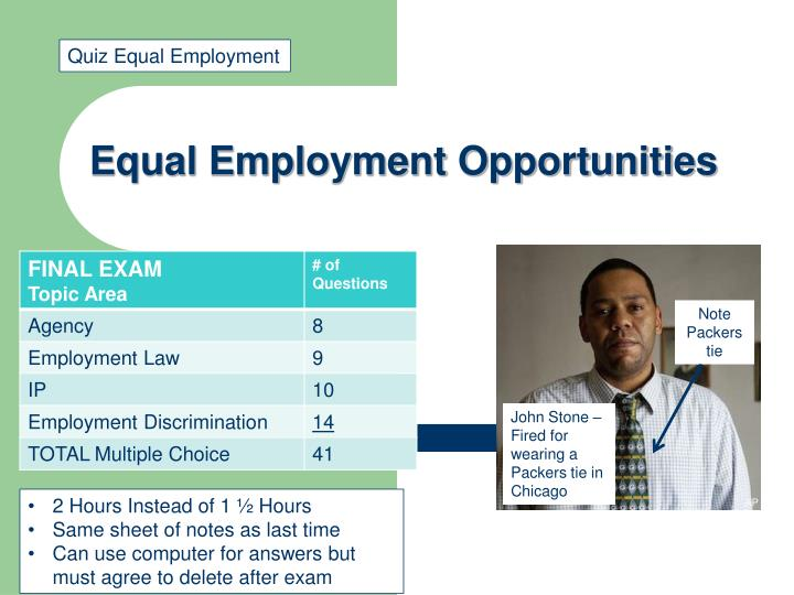 equal employment opportunities n.