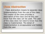 class abstraction