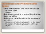 references and primitive data types