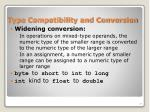 type compatibility and conversion
