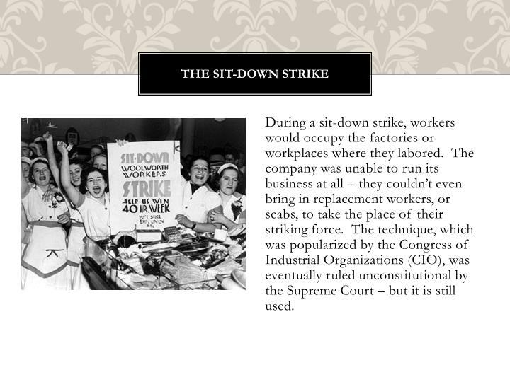 The Sit-Down Strike