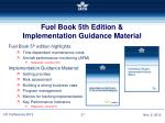 fuel book 5th edition implementation guidance material