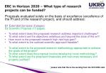 erc in horizon 2020 what type of research projects can be funded