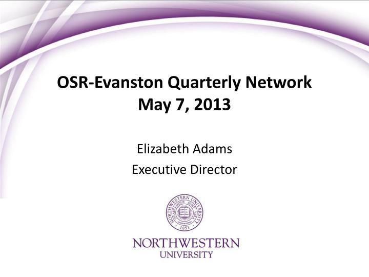 osr evanston quarterly network may 7 2013 n.