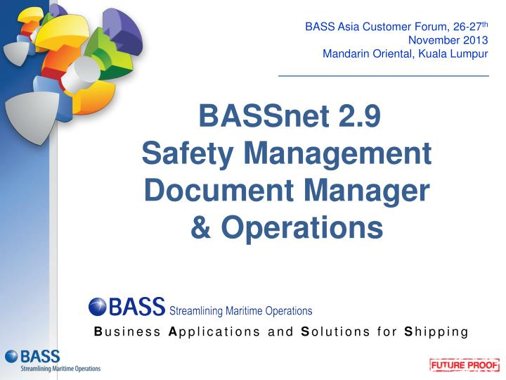 bassnet 2 9 safety management document manager operations n.