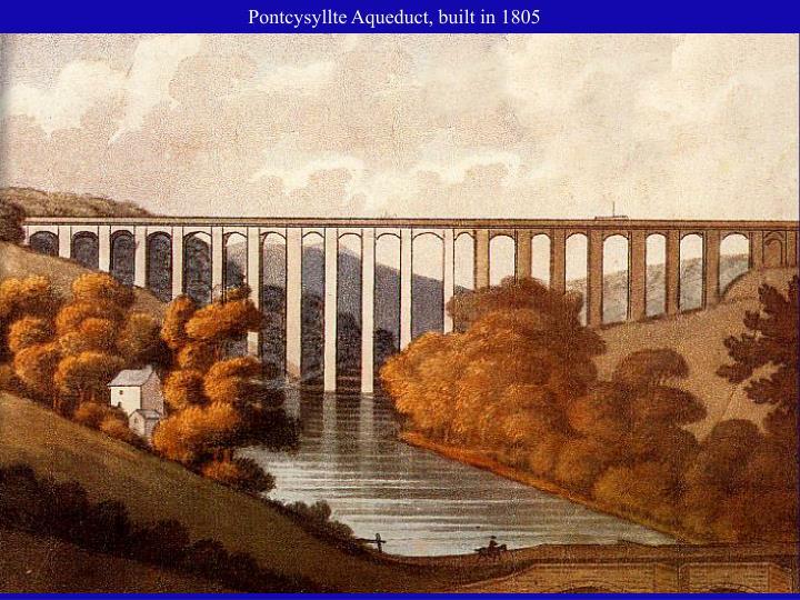 Pontcysyllte Aqueduct, built in 1805