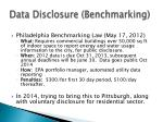data disclosure benchmarking