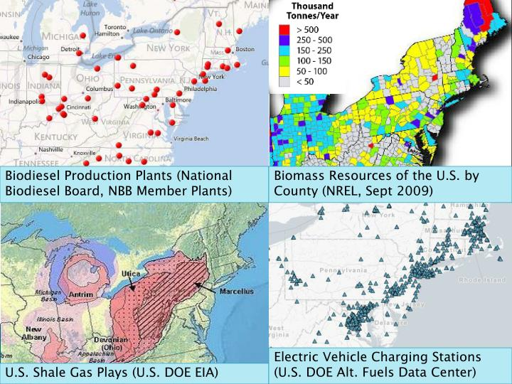 Biomass Resources of the U.S. by County (NREL, Sept 2009)