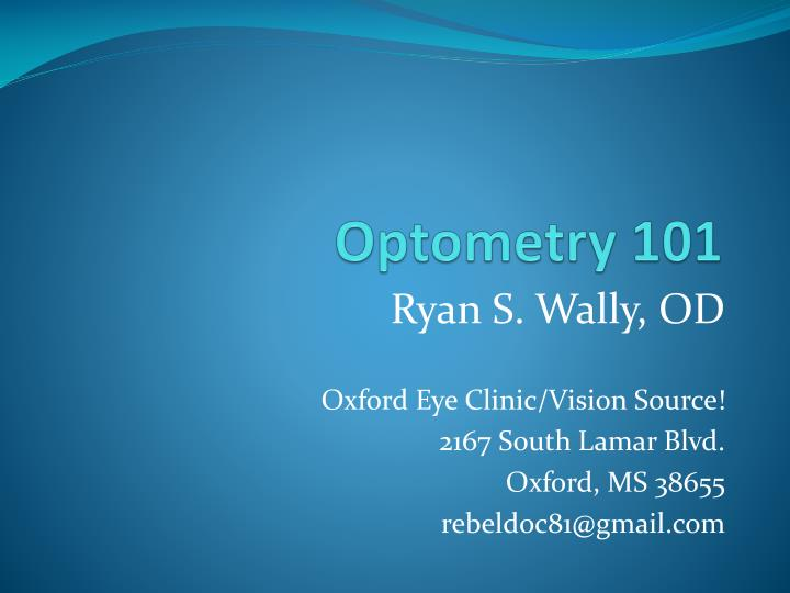 optometry 101 n.