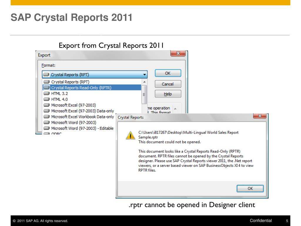 PPT - BI 4 0 Client Tools Crystal Reports 2011 PowerPoint