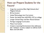 how can prepare students for the future