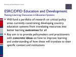 esrc dfid education and development raising learning outcomes in education systems