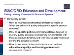 esrc dfid education and development raising learning outcomes in education systems1