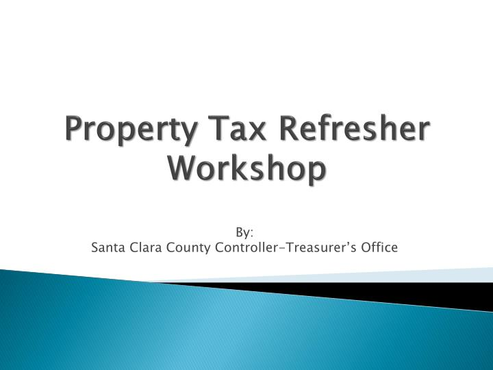 property tax refresher workshop n.