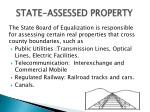 state assessed property