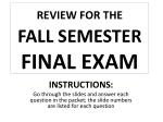 review for the fall semester final exam1