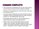 common conflicts