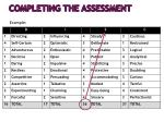 completing the assessment1