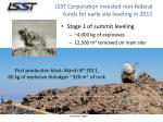 lsst corporation invested non federal funds for early site leveling in 2011