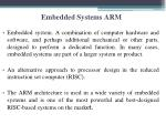 embedded systems arm