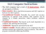 ias computer instructions
