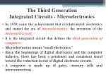 the third generation integrated circuits microelectronics