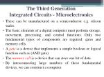 the third generation integrated circuits microelectronics1