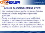 athletic team student club event