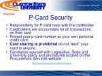 p card security