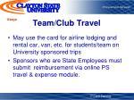 team club travel