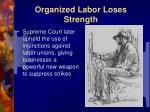 organized labor loses strength