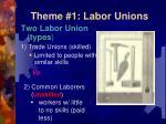 theme 1 labor unions1