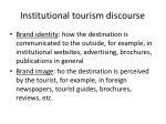 institutional tourism discourse
