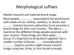 morphological suffixes