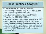 best practices adopted