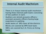internal audit machnism