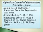 rajasthan council of elememntary education jaipur