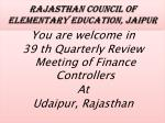 rajasthan council of elementary education jaipur