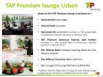 tap premium lounge lisbon