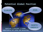 potential global position