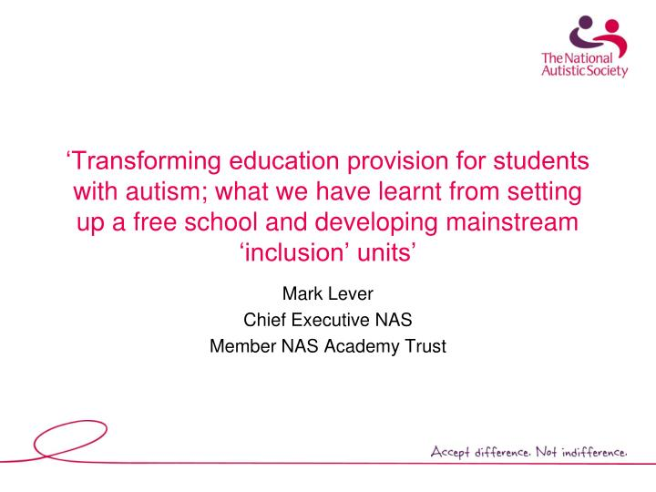 mark lever chief executive nas member nas academy trust n.