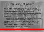 legal status of women