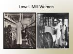 lowell mill women