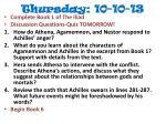 thursday 10 10 13