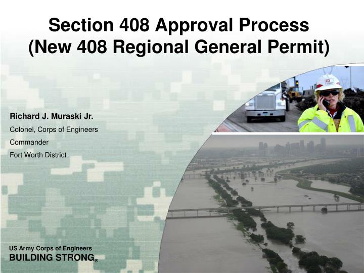 section 408 approval process new 408 regional general permit n.