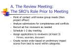 a the review meeting the sro s role prior to meeting