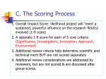 c the scoring process