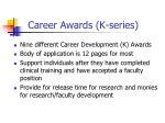 career awards k series