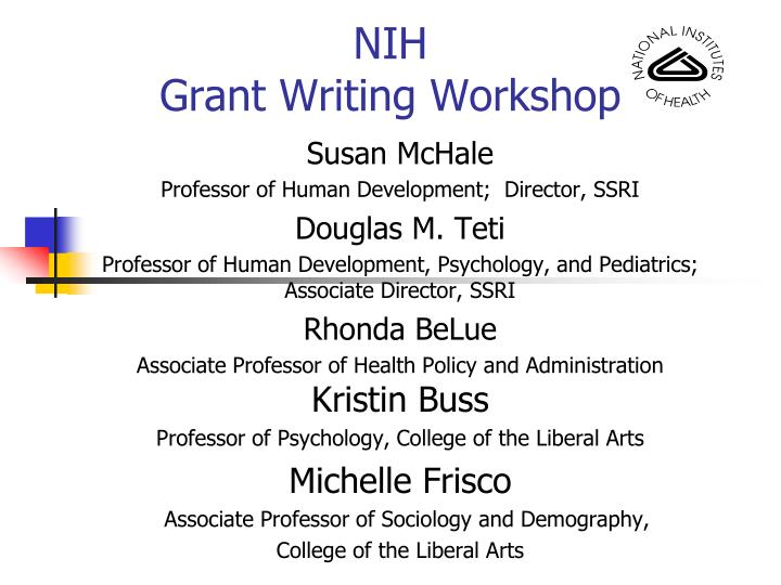 nih grant writing workshop n.